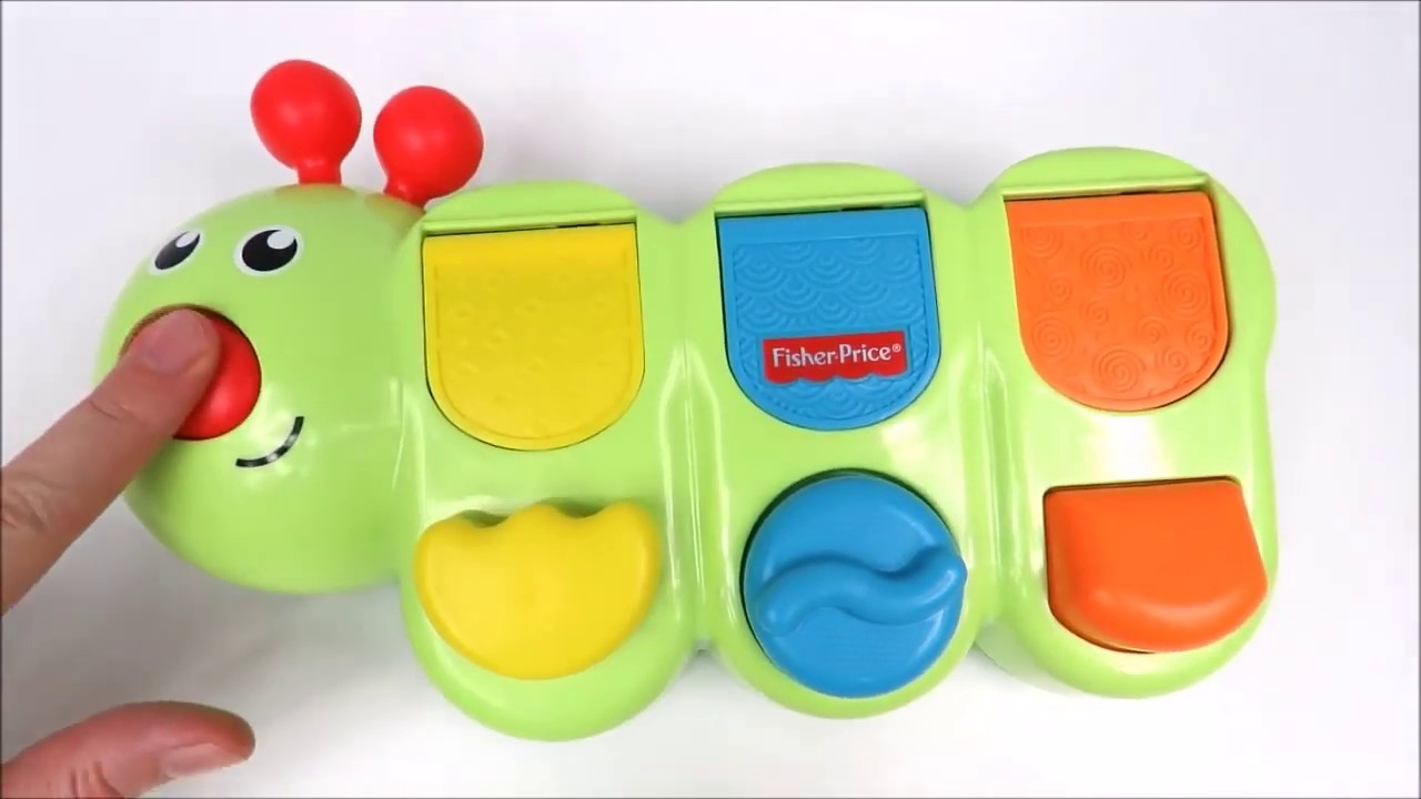 Fisher-Price Caterpillar pop up toy learn colors names of animals