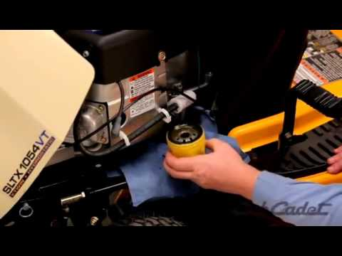 how to change the oil and filter on a cub cadet riding. Black Bedroom Furniture Sets. Home Design Ideas