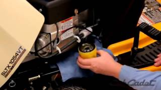 how to change the oil and filter on a cub cadet riding lawn mower