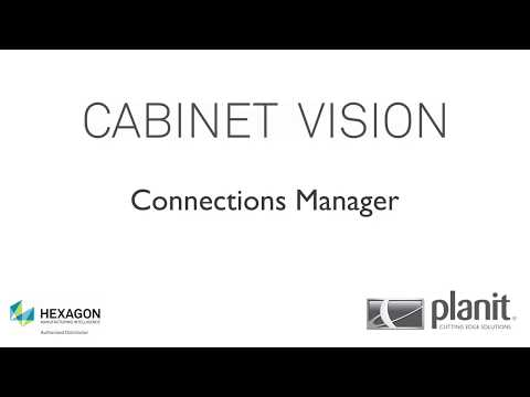 Cabinet Vision Tutorial (Intermediate 9) - Connections Manager