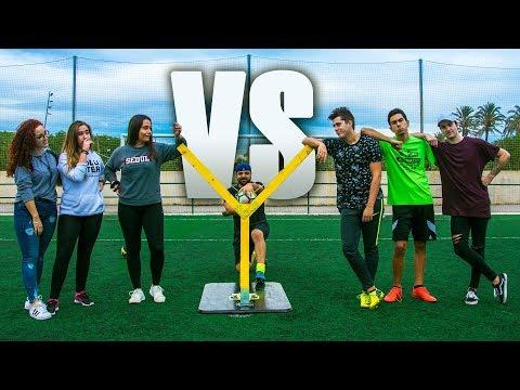 CHICAS VS CHICOS !!! Retos de Fútbol | EPIC CHALLENGE NOVIAS VS NOVIOS
