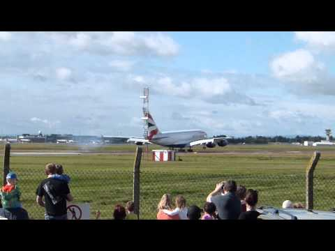 British Airways Airbus A380 Landing At Shannon Airport In Ireland