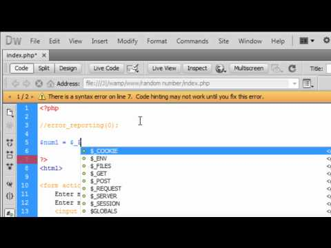 PHP & HTML: Creating A Random Number Script With A HTML Form