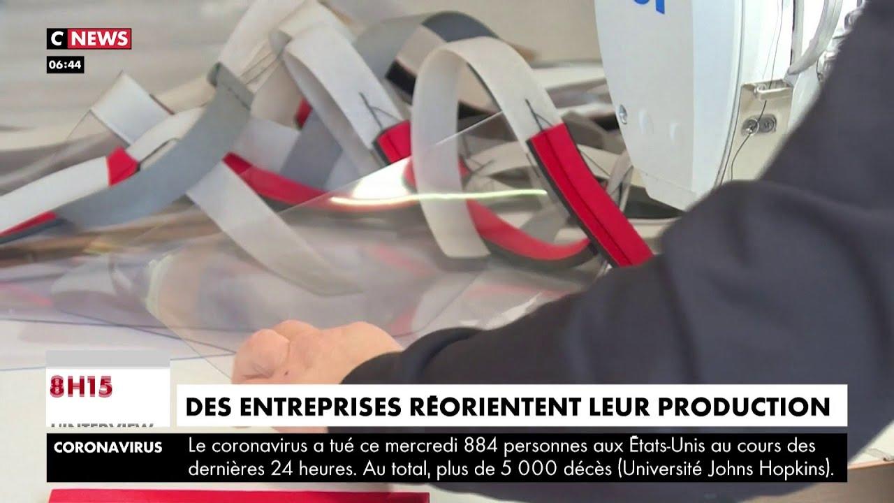 Coronavirus : les entreprises françaises réorientent leur production