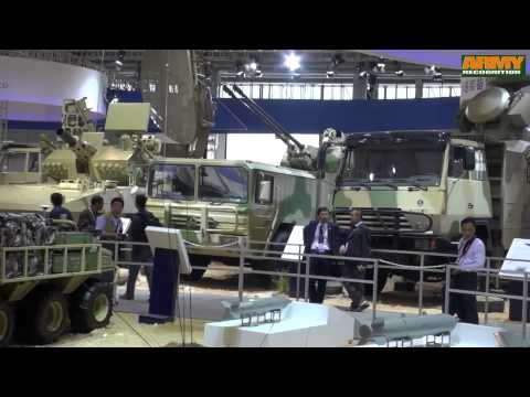 China Norinco wide range high-tech military equipment combat vehicles AirShow China 2014