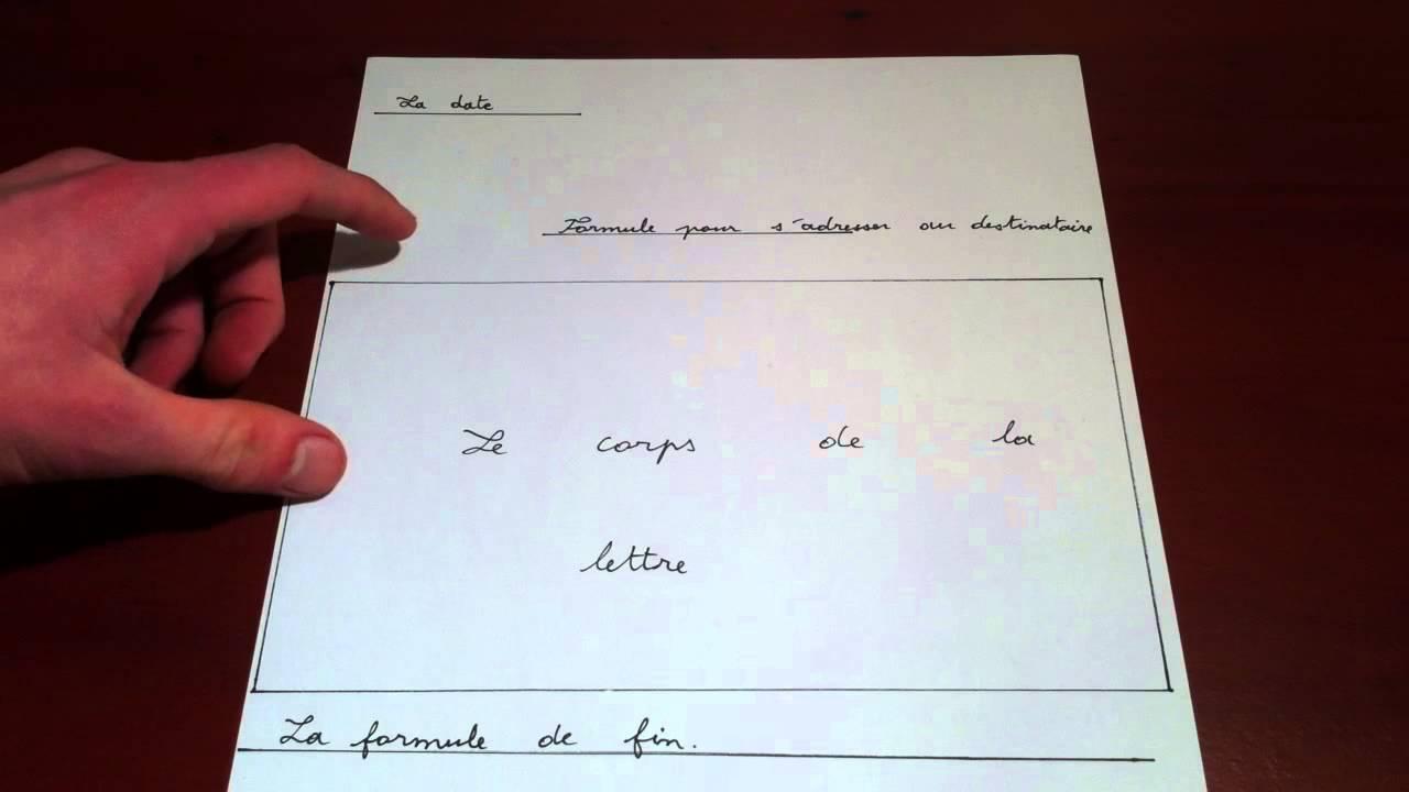 r u00e9diger une lettre -  u00e9crire courrier