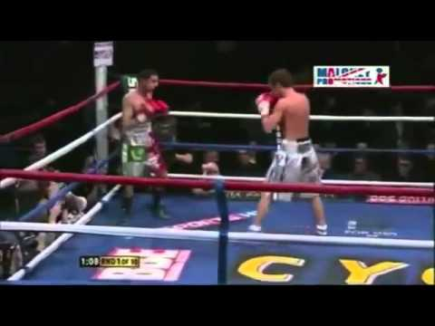 Cocky boxer knocked out