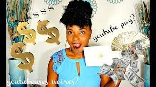Mon salaire sur youtube? le probleme des youtubeurs noirs...