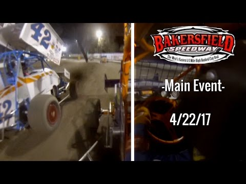 California Lightning Sprint at Bakersfield Speedway -Main Event- 4/22/17