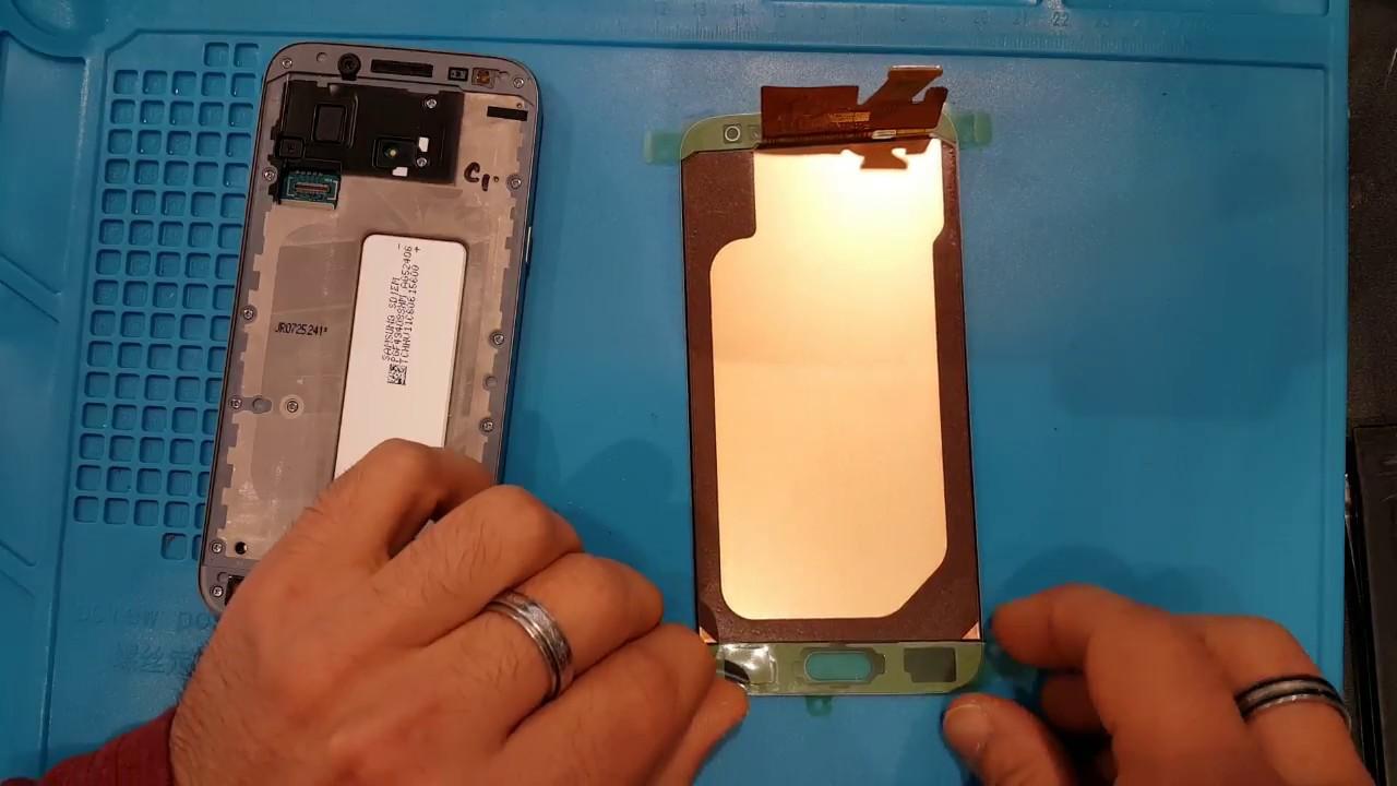 Samsung Galaxy J3 2017, J5 2017, J7 2017 (J330F, J530F, J730F) : Comment remplacer vitre et LCD