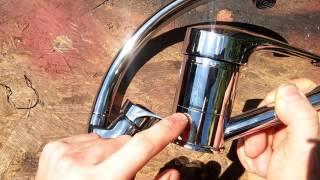 видео Смеситель для кухни. Устройство, установка, ремонт смесителя