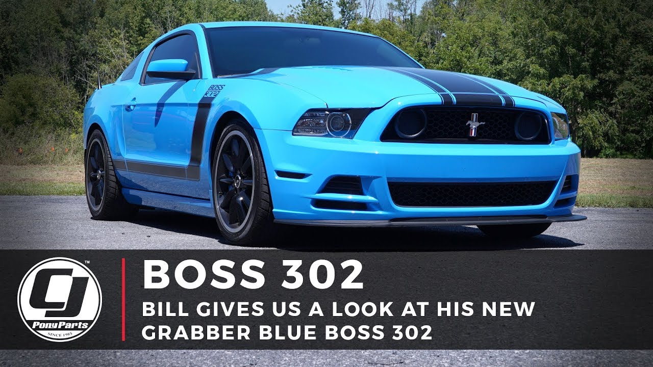First Look | Grabber Blue Boss 302 Mustang | Bill Shows You His New Build