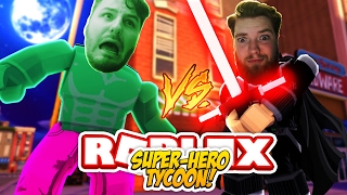 ROBLOX ADVENTURE - ROPO IS THE HULK & SHARKY IS DARTH VADER?? (SUPER HERO TYCOON)
