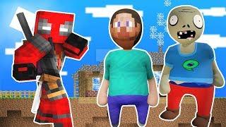ZOMBİK VE STEVE SÜPER KAHRAMAN OLDU 😱 - Minecraft