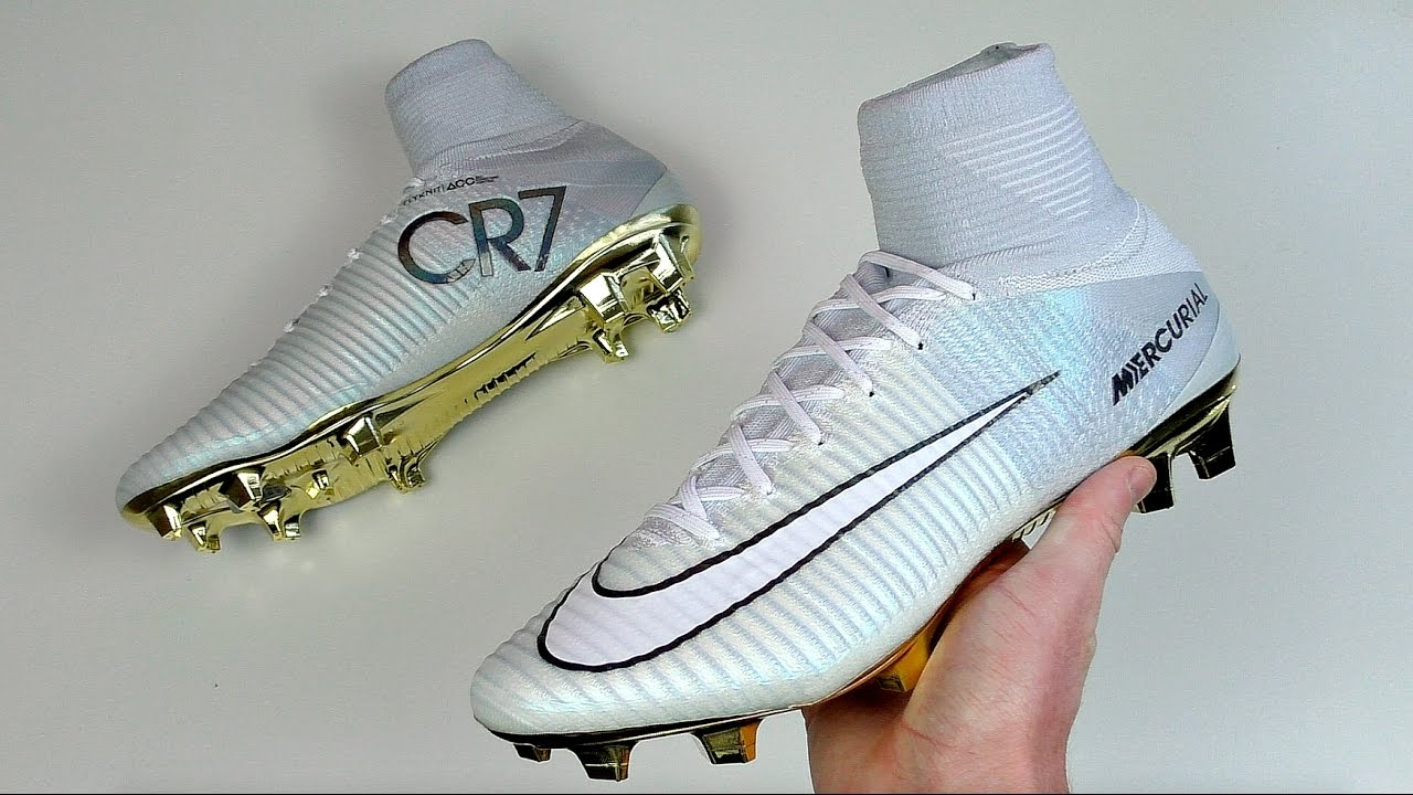 cf8e2dfb4b5 C Ronaldo Soccer Shoes Gold White
