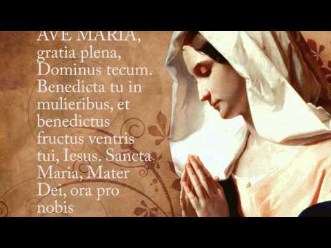 Ave Maria Hymn with Lyrics - Latin