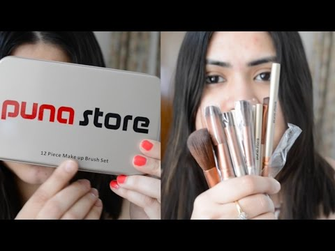 Affordable makeup brush set in India in Hindi | Beginners guide | Puna Store Brushes honest review