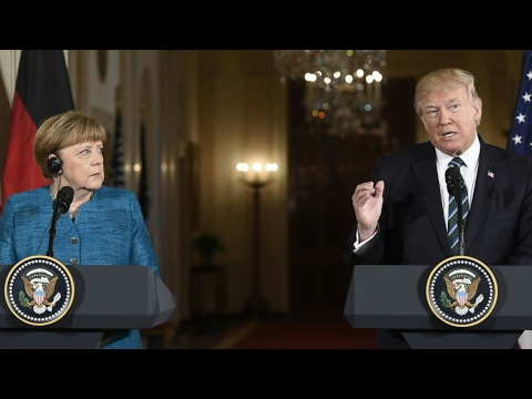 President Donald J Trump Joint Press conference with Angela Merkel - 17th March 2017