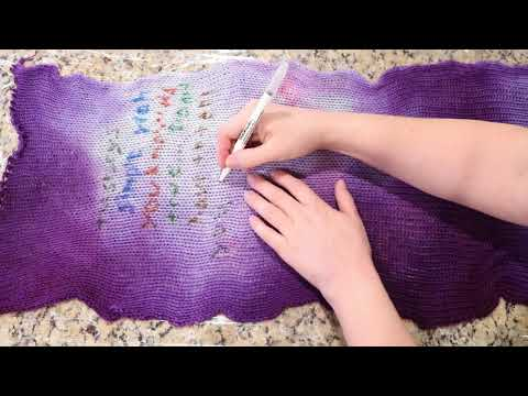 Writing a Love Note on a Sock Blank with Edible Color Markers - Sock Blank Special 2