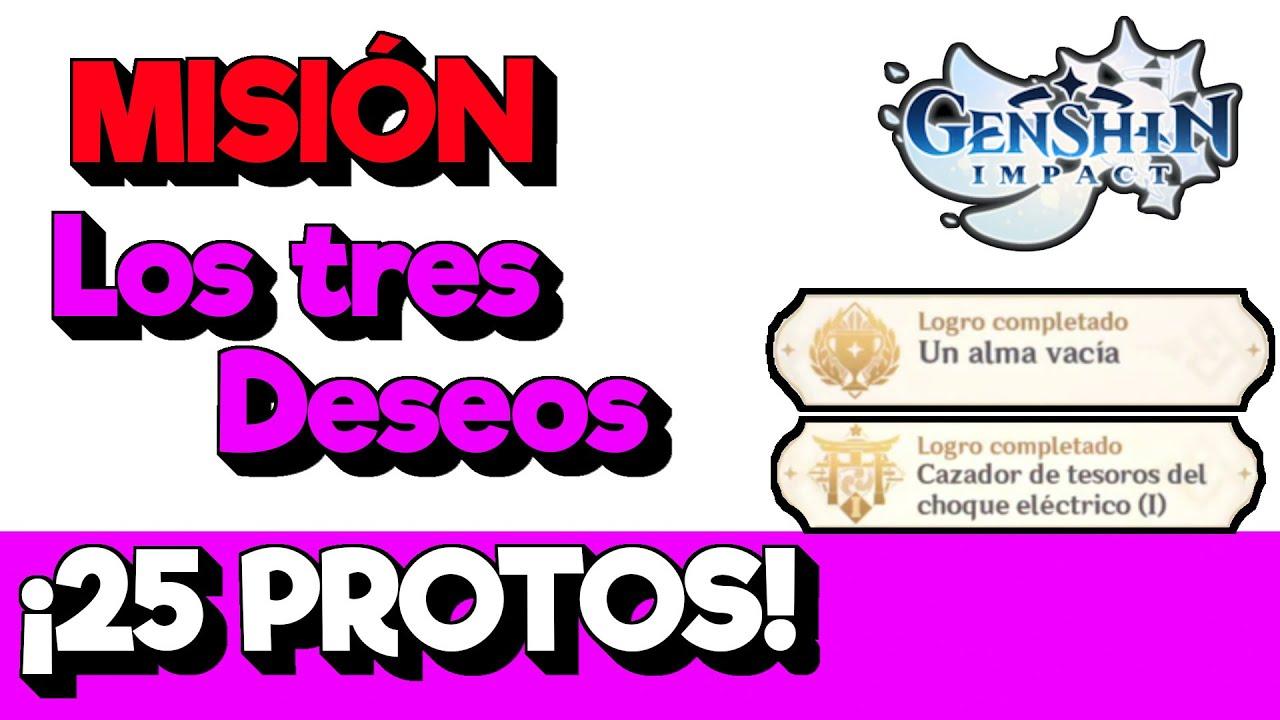 💎25 PROTOGEMAS, 2 LOGROS GRATIS MISION INAZUMA LOS TRES DESEOS❗ Genshin Impact secretos en español