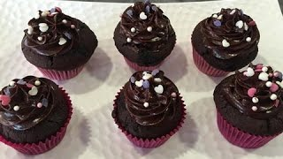Chocolate Cupcake with Fudge Icing