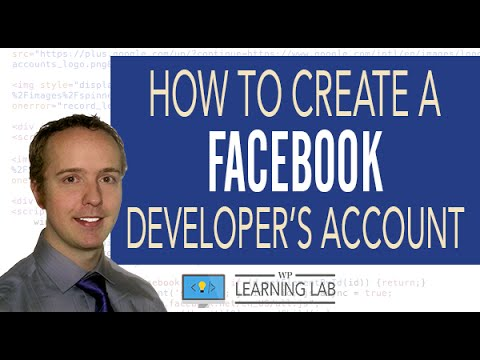 how to create a facebook developer account