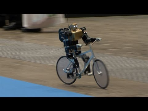 Thumbnail: Amazing Bike Riding Robot! Can Cycle, Balance, Steer, and Correct Itself. #DigInfo