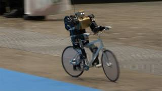 Amazing Bike Riding Robot! Can Cycle, Balance, Steer, and Correct Itself. #DigInfo thumbnail