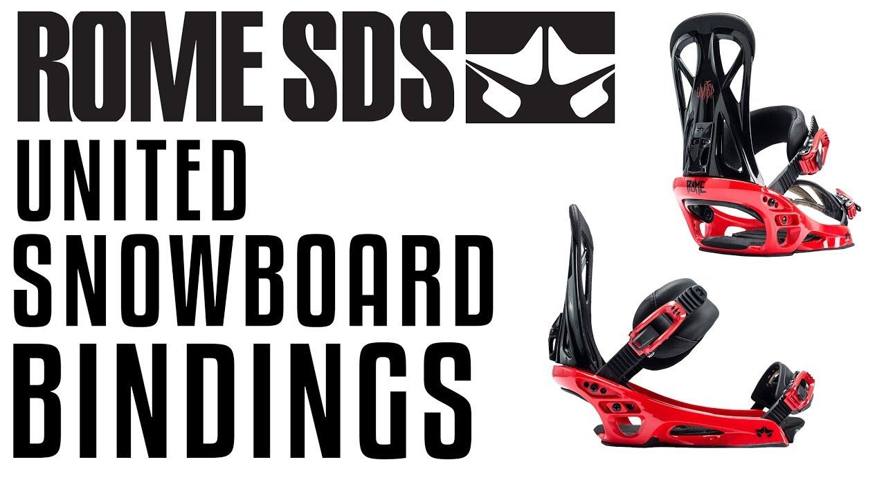 3b8dd787b2 2018 Rome United Snowboard Bindings - Review - The-House.com - YouTube