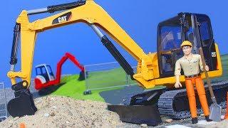 Bagger, Lastwagen, Spielzeugautos & Kran Baustelle | Bruder Spielwaren für Kinder
