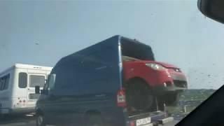 Приколы на дороге. Трасса М5 Москва - Урал. jokes on the roads, highway M5 Moscow-Ural.