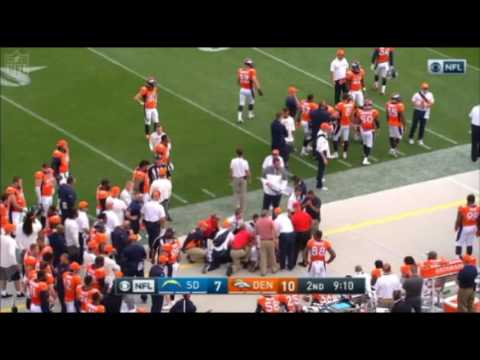 WADE PHILLIPS - Taken to Hospital after SIDELINE HIT (Video of the HIT)