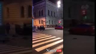 Первые секунды после смертельного ДТП в Харькове Градусник 18.10.17