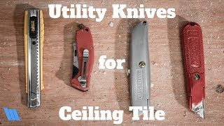 Our Favorite Utility Knives for Cutting Ceiling Tile