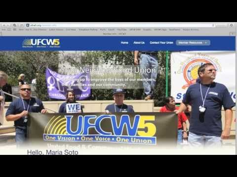 From Your Union by Kelly Martinez-UFCW5 Website, Member Login
