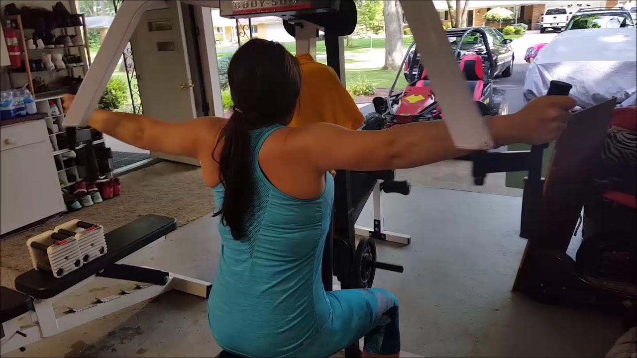Rear delt traps and rhomboid home gym exercise women or men youtube