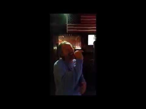 Tom Gibson singing karaoke to Foreplay/Longtime by Boston