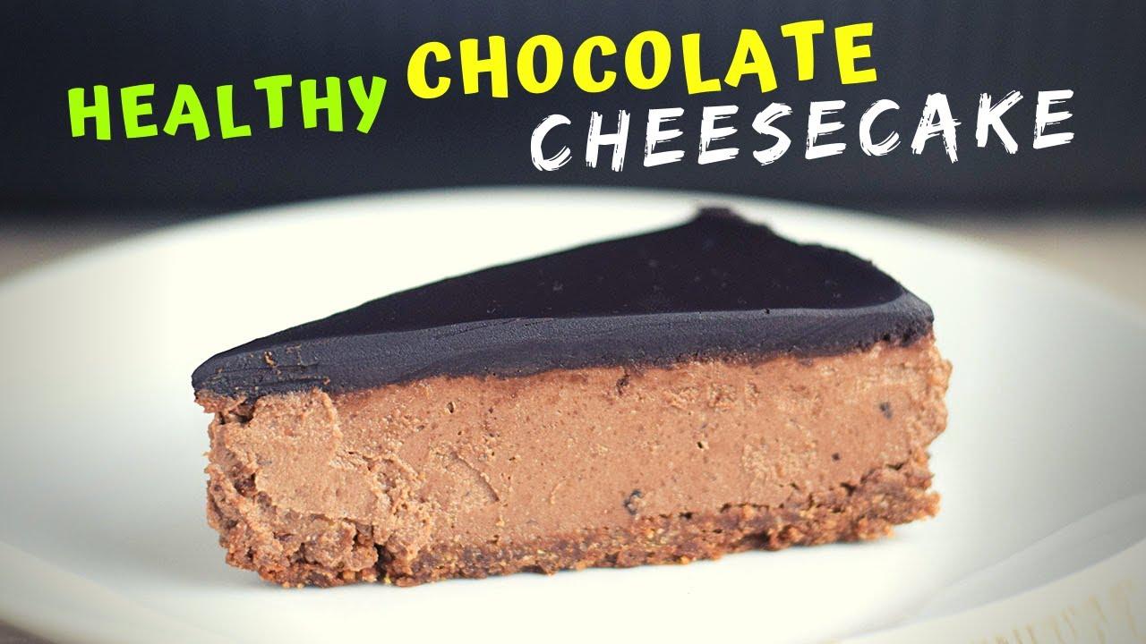 Healthy Chocolate Cheesecake (with OATMEAL CRUST!)