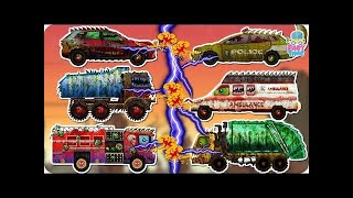 Garbage Truck Wash | Good vs Evil | Scary Street Vehicles | Halloween Videos for Kids