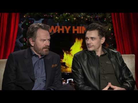 Why Him?    Bryan Cranston and James Franco Interview    SocialNews.XYZ