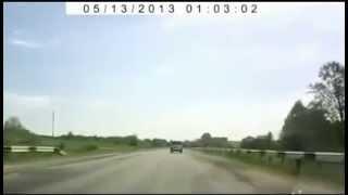 Гагарин полетел в космос на машине 2013(ДТП под Брянском Водитель не справился с управлением и машина, набрав максимальную скорость, подлетев..., 2013-07-30T16:55:20.000Z)