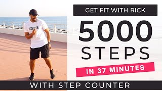5000 Steps at home | FAST Walking Workout | Walk To The Beat