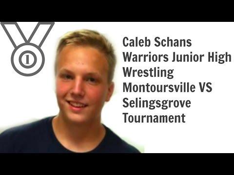 Caleb Schans Warriors Junior High Wrestling Montoursville VS Selingsgrove,  Tournament 1