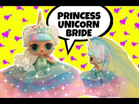 LOL Doll Wedding Part 1 🦄 BEAUTIFUL UNICORN BRIDE GG CUSTOM diy