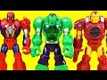Playskool Heroes Mech Armor Spider-man Hulk And Iron Man Robots Battle Imaginext Mohawk Dude Robot
