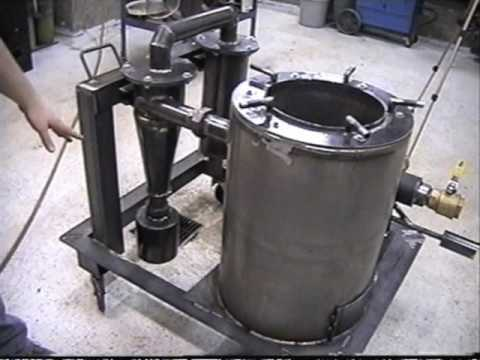 Wood Gas Generator >> Gasifier Part 1 - Checking out the unit - YouTube