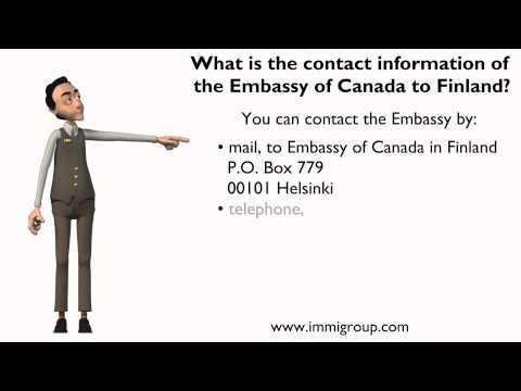 What is the contact information of the Embassy of Canada to Finland?