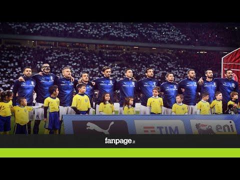 Italia-Svezia, l'inno nazionale cantato da San Siro è da brividi