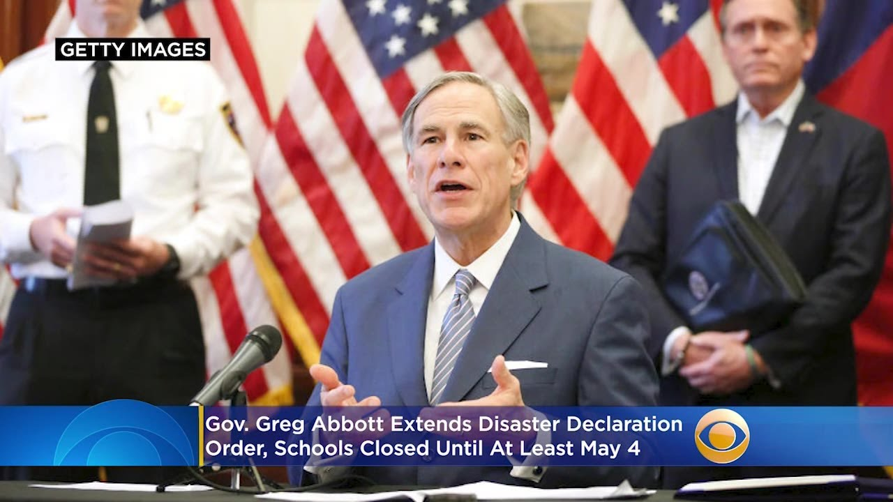 Gov. Abbott: Extends Order, Keeps School Closed Until May 4