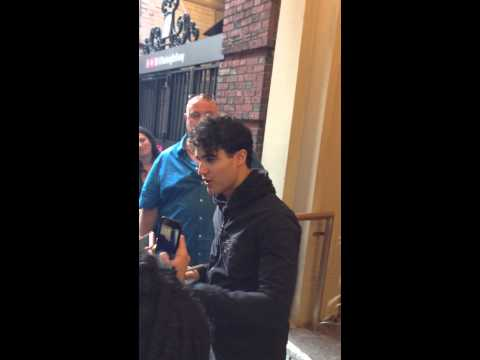 Darren Criss signing for fans after Hedwig show